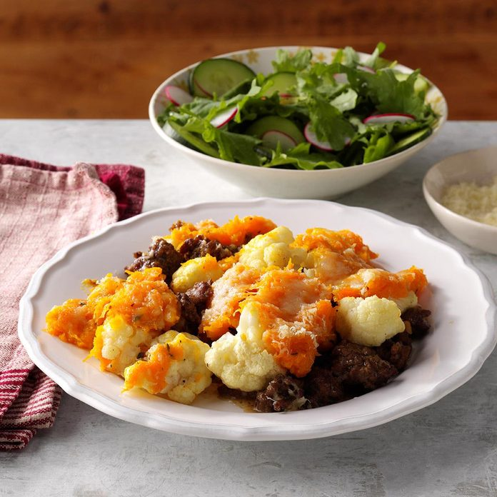 Butternut Squash, Cauliflower & Beef Shepherd's Pie