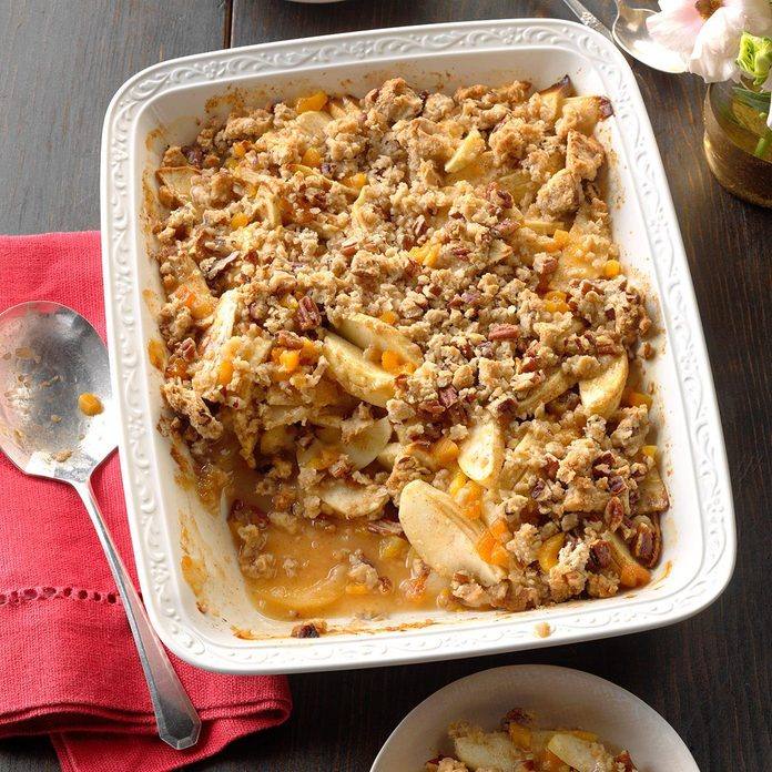 Gingered Apricot-Apple Crumble
