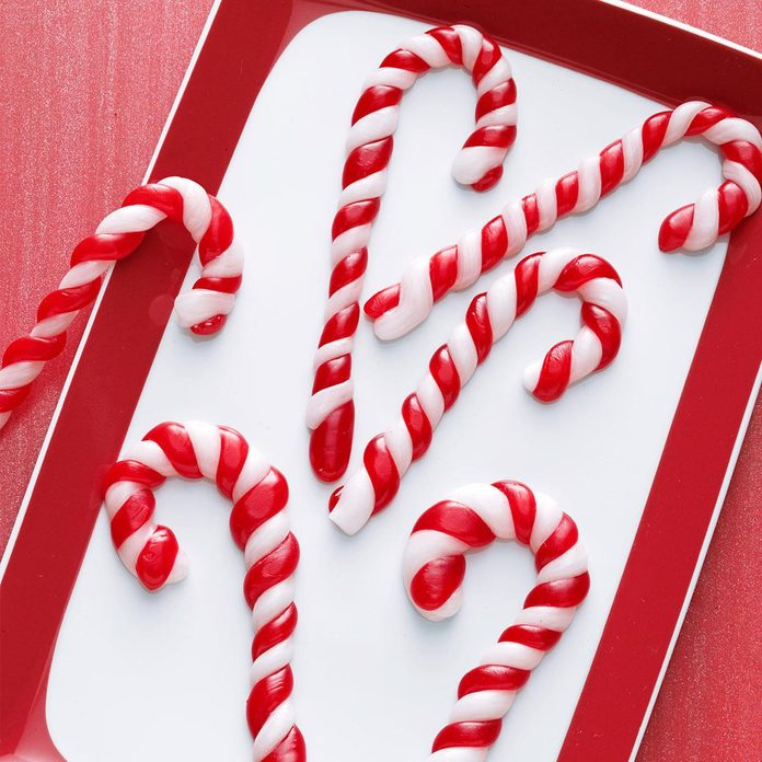 Pulled Taffy Candy Canes