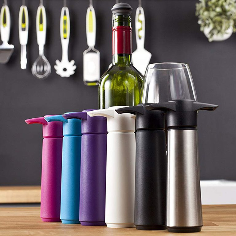 Vacu Vin The original vacu vin wine saver with 1 vacuum stopper - black, 1 Ounce