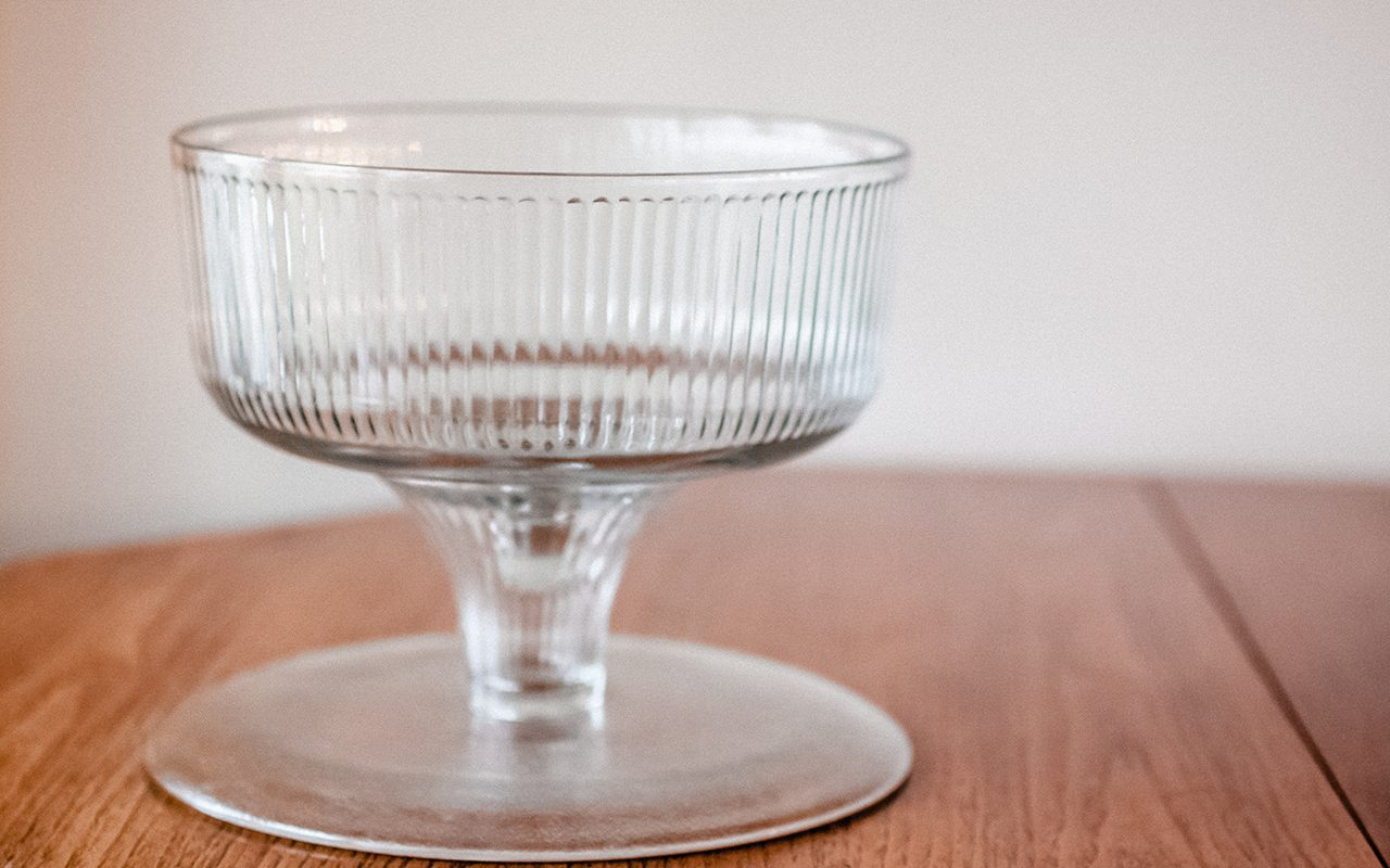 Flipped trifle bowl