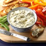 A Kick and a Twist Artichoke Dip