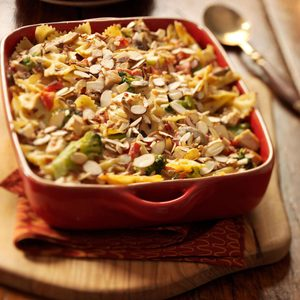 Almond Chicken Pasta Bake