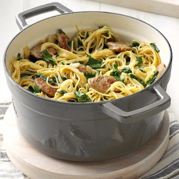 Angel Hair Pasta With Sausage Spinach Exps Cimz19 50260 B01 09 7b 2 41