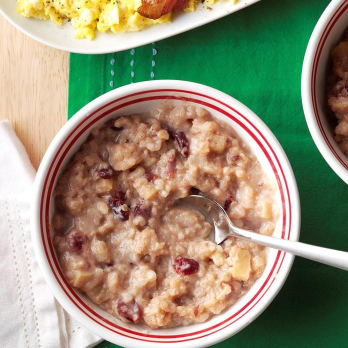 Apple-Cranberry Breakfast Risotto