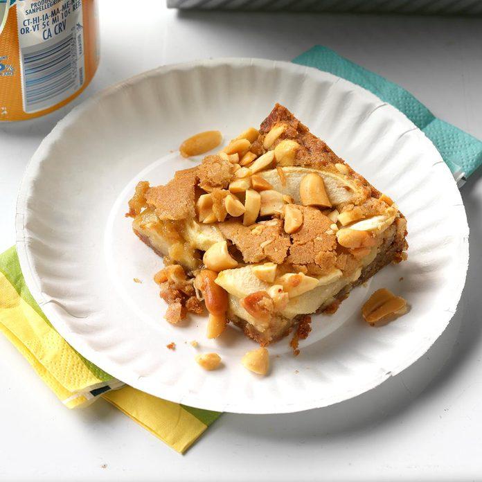 Apple-Peanut Blondies