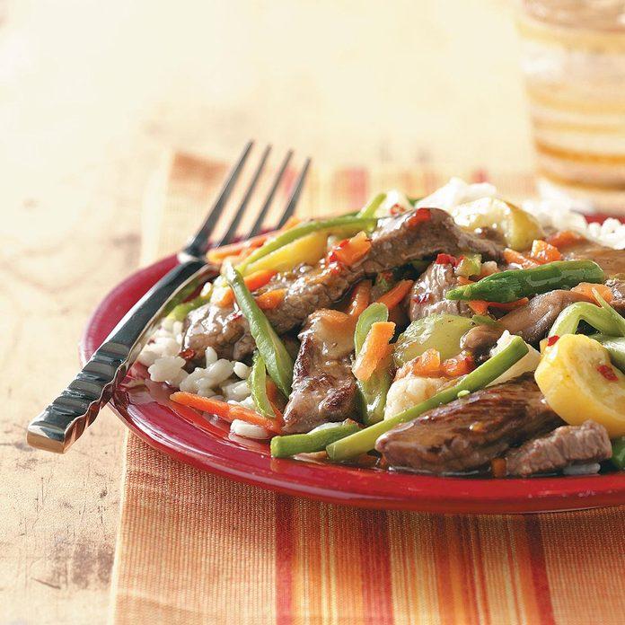 Apricot Beef Broccoli Stir-Fry