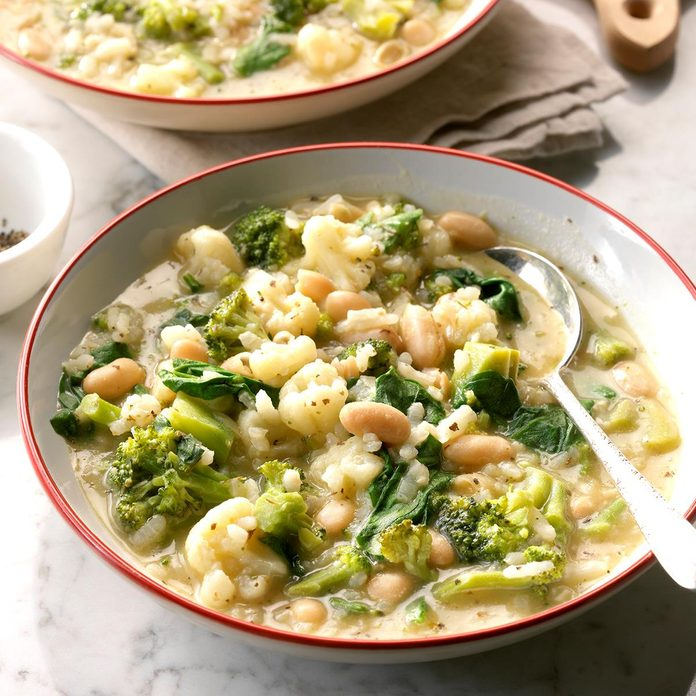 Arborio Rice and White Bean Soup