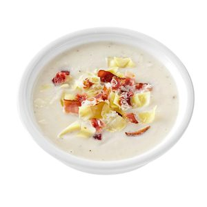 Artichoke & Bacon Cauliflower Soup