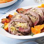 Artichoke-Stuffed Beef Tenderloin