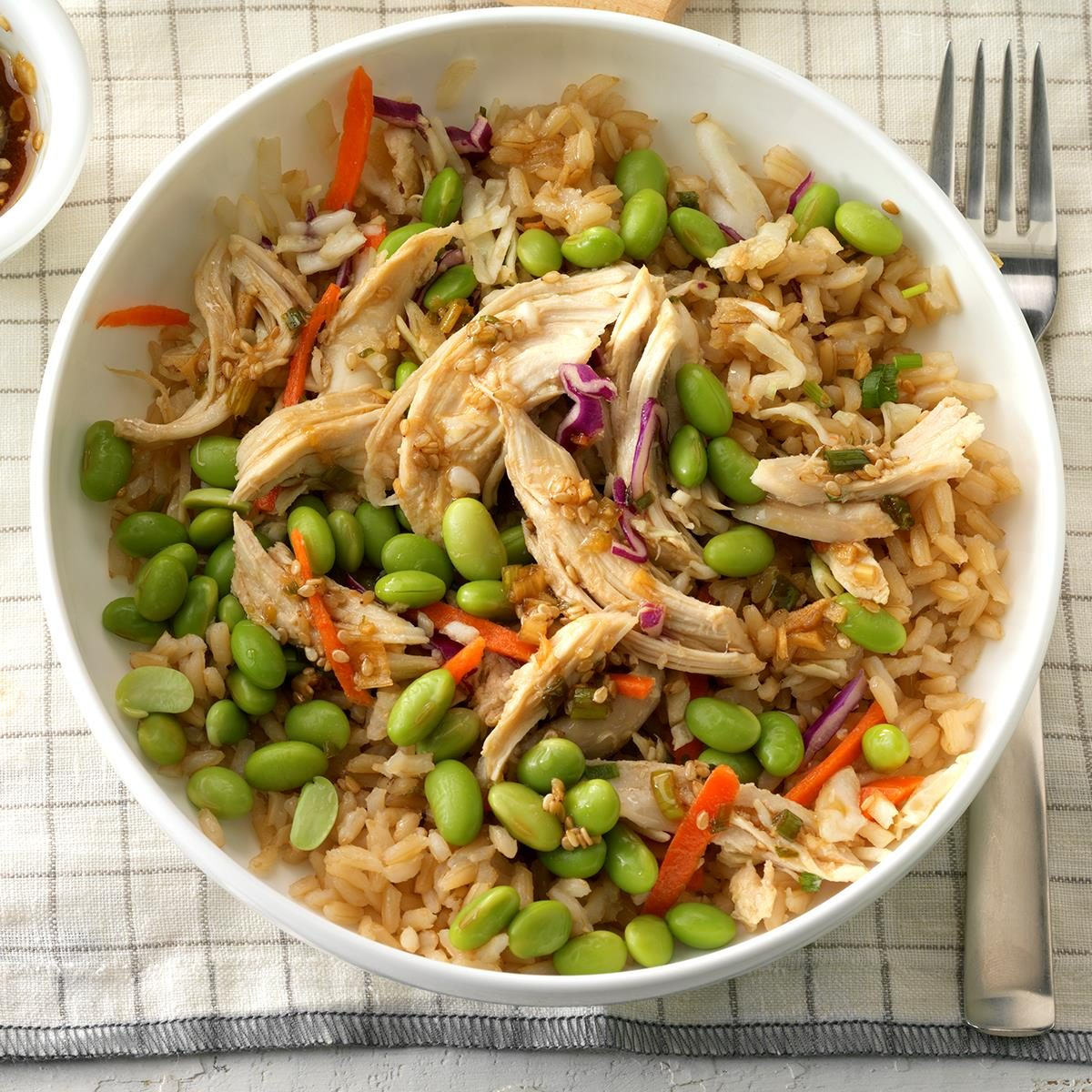 Asian-Inspired Chicken Rice Bowl