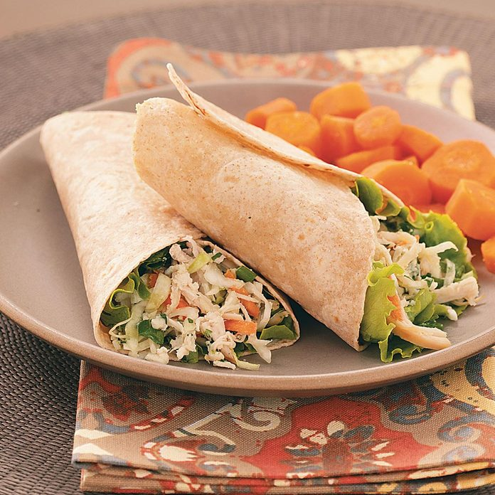 Asian Chicken Salad Wraps
