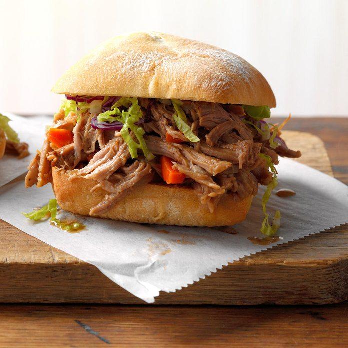 Asian Shredded Pork Sandwiches