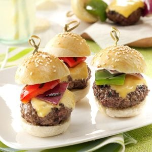 Bacon & Cheese Meatball Sliders