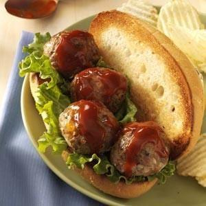 Bacon Cheeseburger Meatball Subs