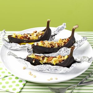 Baked Banana Boats