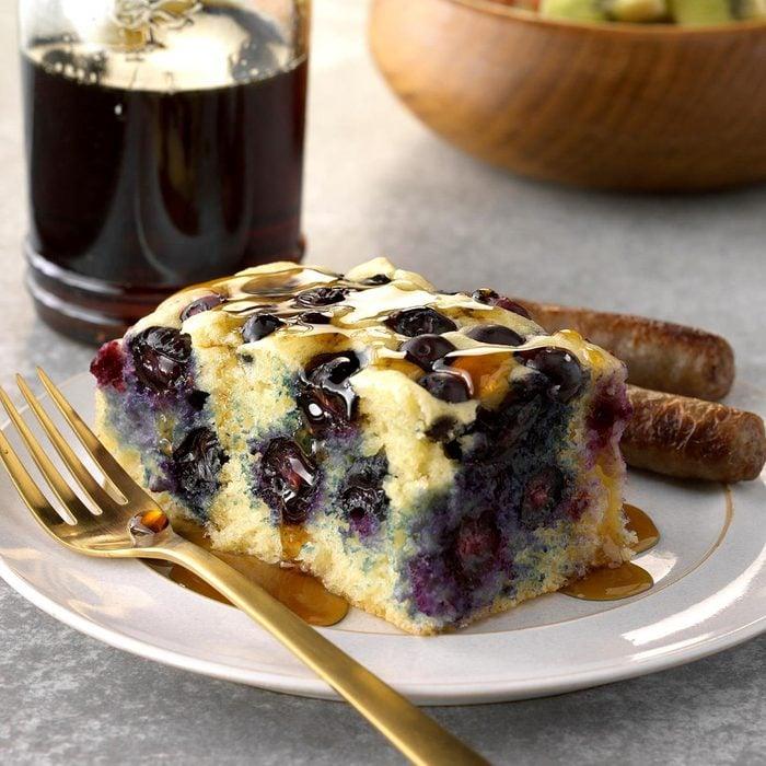Baked Blueberry Ginger Pancake