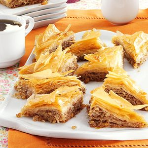 Baklava with Honey Syrup