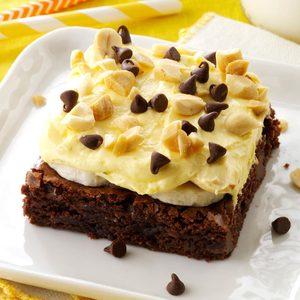 Banana Cream Brownie Dessert