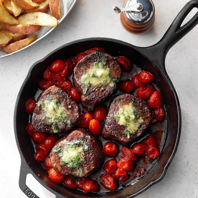 Basil Butter Steaks With Roasted Potatoes Exps Cismz19 119908 E01 03 4b