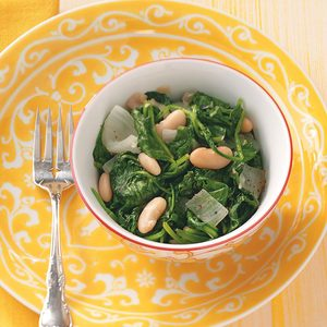 Beans & Spinach