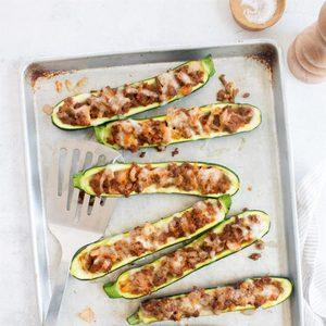 Beef-Stuffed Zucchini