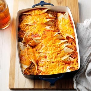 Beef 'n' Rice Enchiladas