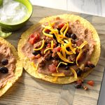 Black Bean and Beef Tostadas