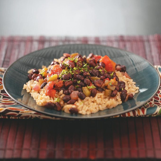 Black Beans with Brown Rice
