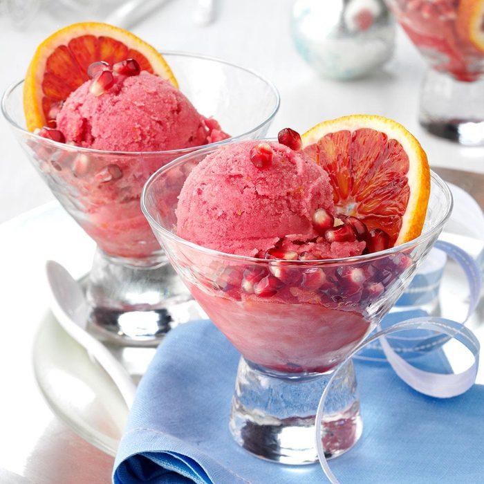 Blood Orange-Pomegranate Sorbet