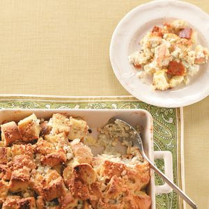 Blue Cheese Bread Pudding