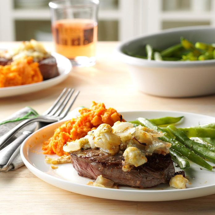 Inspired by Ruth's Chris Steakhouse Blue Cheese-Crusted Steaks