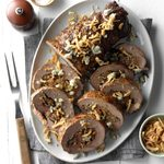 Blue Cheese-Mushroom Stuffed Tenderloin