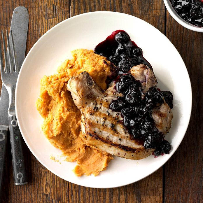 Runner-Up: Blueberry Chops with Cinnamon Sweet Potatoes