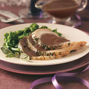 Brined Pork Roast with Port Wine Sauce