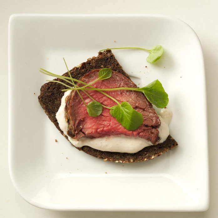 British Tenderloin & Pumpernickel Crostini