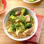Broccoli-Pork Stir-Fry with Noodles