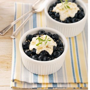 Broiled Blueberry Dessert