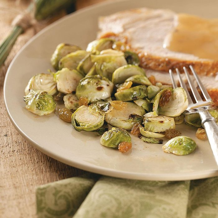 Brussels Sprouts with Golden Raisins
