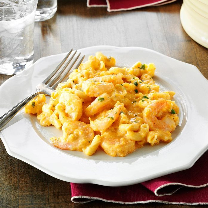 Buffalo Shrimp Mac & Cheese