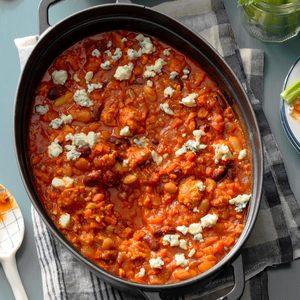Buffalo-Style Chicken Chili Dip