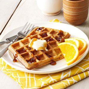 Buttermilk Pumpkin Waffles