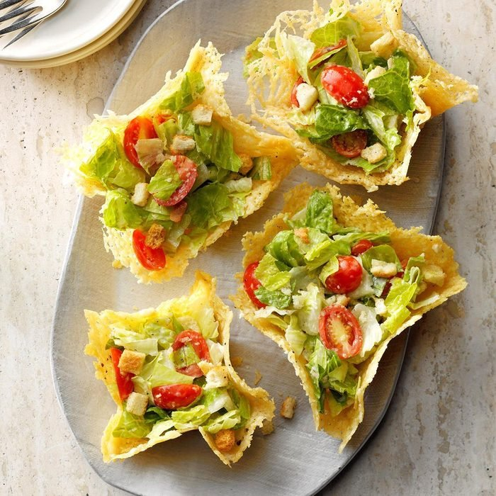 Thursday: Caesar Salad in Peppered Parmesan Bowls