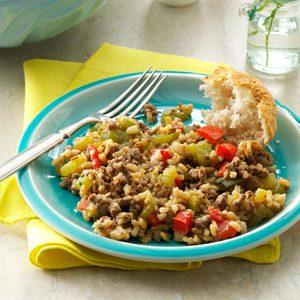 Cajun Beef & Rice