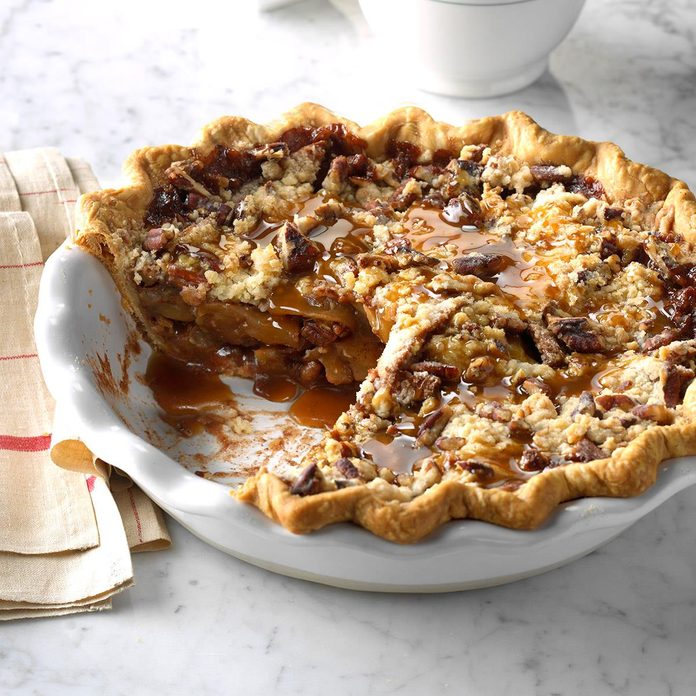 Caramel Apple Pecan Pie Inspired by It's a Wonderful Life