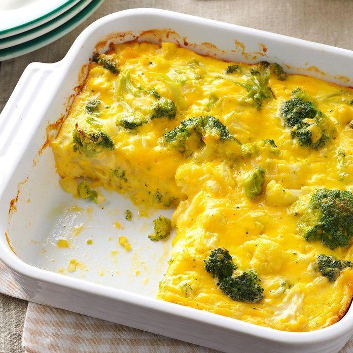 Cauliflower-Broccoli Cheese Bake
