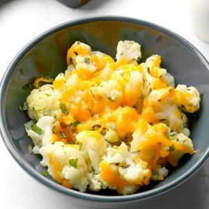 Cheddar Basil Cauliflower