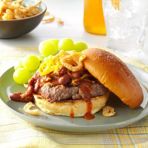 Cheddar Chili Burgers