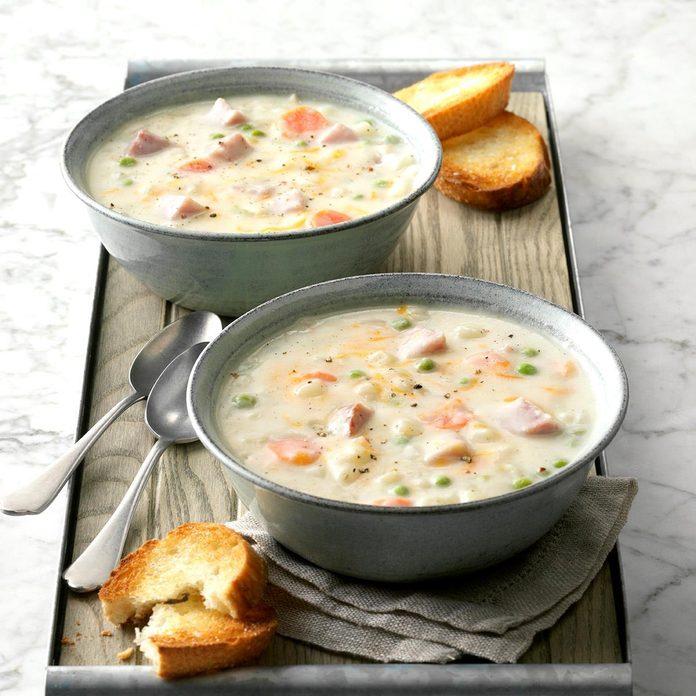 Cheddar Ham Soup