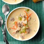 Cheeseburger Soup with Rice